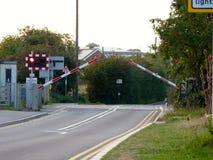 Attenborough crossings. Preparing for a train at attenborough,  Nottinghamshire Stock Photo