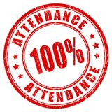 Attendance vector rubber stamp. Isolated on white background royalty free illustration