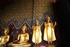 Attendente stante di Buddha Fotografie Stock Libere da Diritti