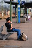 Attente Image stock