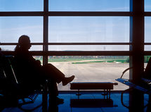 Attente d'aéroport. Image stock