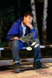 Attente d'adolescent Photos libres de droits