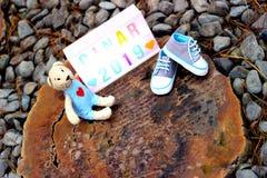 Attente d'un bébé photo libre de droits