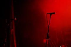 attente de 2 microphones Images libres de droits