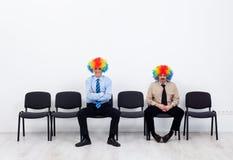 Attente de clowns Images libres de droits