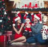 Attente de famille Noël Photographie stock libre de droits