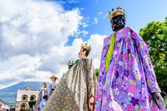 Attente de Gigantes à danser, Antigua, Guatemala image libre de droits