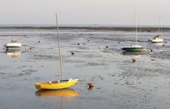 Attente de la marée et du x29 ; et coucher du soleil Photo stock