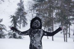 Attente de la première neige photos stock