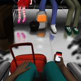 Attente de votre avion à un aéroport illustration libre de droits