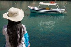 Attente du bateau Photographie stock libre de droits