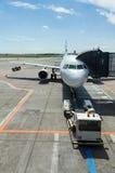 Attente plate sur des passagers Photographie stock libre de droits