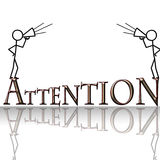 Attention. With two men and megaphones Royalty Free Stock Photos