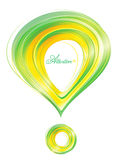 Attention abstract illustration. With gold and green colors royalty free illustration