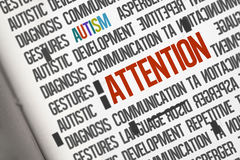 Attention against open book Royalty Free Stock Image