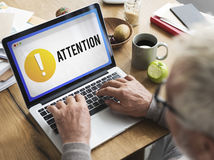 Attention Alert Exclamation Point Concept Stock Photography