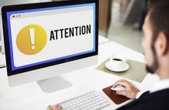 Attention Alert Exclamation Point Concept Royalty Free Stock Photo