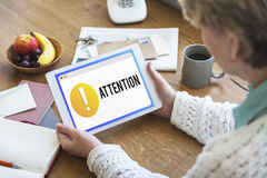 Attention Alert Exclamation Point Concept Royalty Free Stock Photography