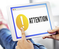 Attention Alert Exclamation Point Concept Stock Images
