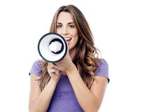 Attention all, listen to me! Royalty Free Stock Images