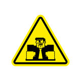 Attention angry boss. chief to yellow triangle. Office sign of C Royalty Free Stock Images
