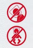 Attention au sujet de volet d'air dangereux images stock