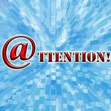 Attention and background Royalty Free Stock Image