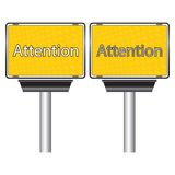 Attention banner Royalty Free Stock Photos
