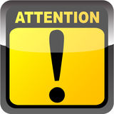 Attention button. Shiny attention button vector illustration Royalty Free Illustration