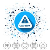 Attention caution sign icon. Exclamation mark. Stock Image