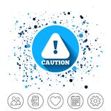 Attention caution sign icon. Exclamation mark. Royalty Free Stock Images