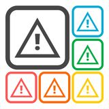 Attention caution sign icon Stock Image