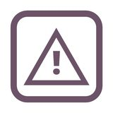 Attention caution sign icon Royalty Free Stock Photo