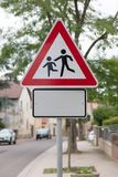Attention children roadsign Royalty Free Stock Photography