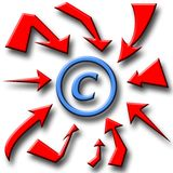 Attention! Copyright!. Pay attention! Warning! Material under copyright laws Royalty Free Stock Photos