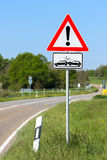Attention crash sign Royalty Free Stock Images