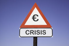 Attention € crisis Royalty Free Stock Image
