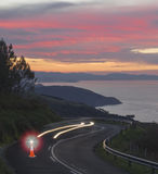 Attention danger in the road. Attention danger in the road, Spain Stock Image