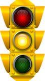ATTENTION de feux de signalisation Photos stock