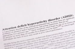 Attention deficit hyperactivity disorder or ADHD. medical or healthcare background Royalty Free Stock Image