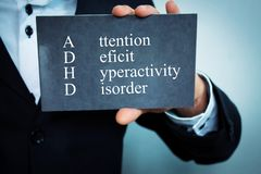 Attention Deficit Hyperactivity Disorder. Text Royalty Free Stock Photo