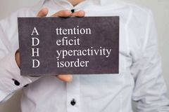 Attention Deficit Hyperactivity Disorder. Text Royalty Free Stock Photography
