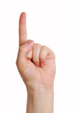 Attention Gesture. Royalty Free Stock Photo