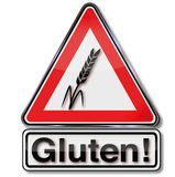 Attention gluten and genetic engineering Royalty Free Stock Photography