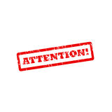 ATTENTION grunge vector stamp with scratches Royalty Free Stock Photo
