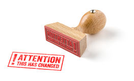 Attention this has change Royalty Free Stock Photos