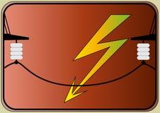 High voltage nameplate royalty free illustration