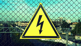 Attention, high voltage Stock Photo