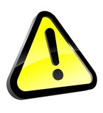 Attention icon Royalty Free Stock Image
