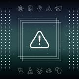 Attention icon symbol. Element for your design Stock Photo
